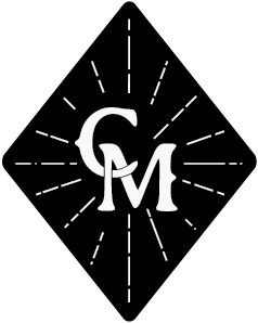 Coffee Masters logo: a black diamond with a white interlocking C and M